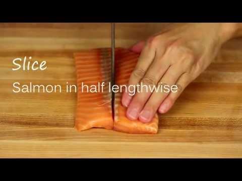 How To Cut Salmon Sashimi