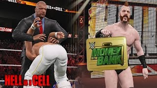 wwe hell in a cell 2015 seth rollins retains wwe title sheamus cashes money in the bank