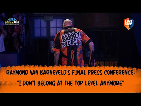 """Raymond van Barneveld's final press conference: """"I don't belong at the top level anymore"""""""
