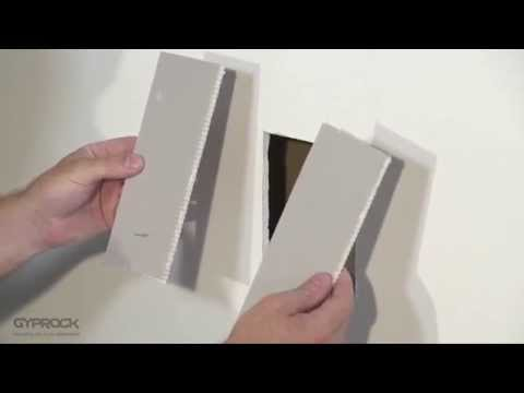 Repairing a hole in plasterboard