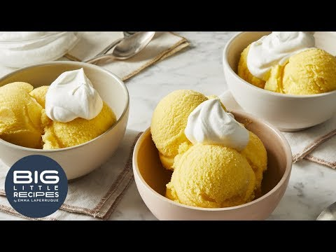 Orange Sherbet With Salted Whipped Cream | Big Little Recipes
