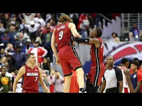 Kelly Olynyk Game Winner 0.2 Seconds Left! Heat vs Wizards 2018-19 NBA Season