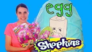 giant surprise egg shopkins mega super huge kinder surprise egg video rare mystery blind baskets big