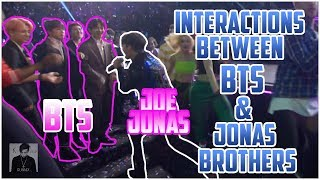 INTERACTIONS BETWEEN BTS AND JONAS BROTHERS