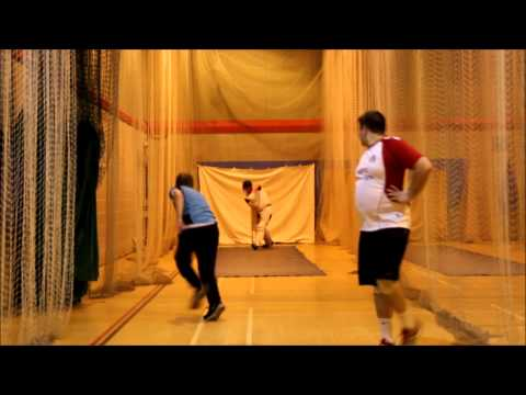 Ross batting   me and brim bowling  CRICKET NETS bouncers galore