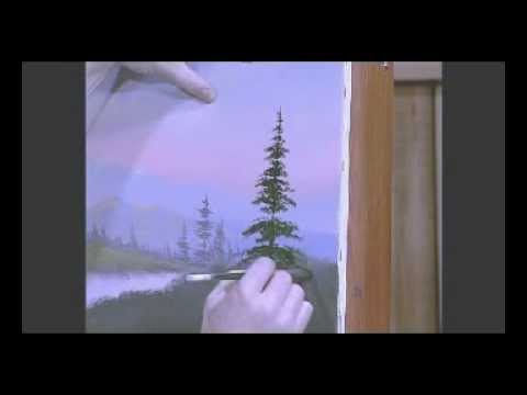 Painting Pine Trees with Acrylic Artist Jerry Yarnell ...