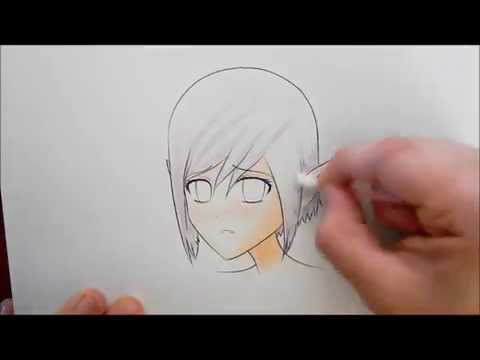 Coloring A Manga Picture With Oil Pastels.