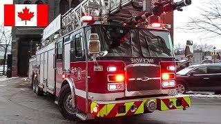 Montréal | Montréal Fire Service (SIM) Pumper 289 & Ladder 415 Responding to Alarms