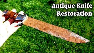 Antique, Rusty Knife Restoration