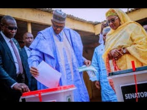 NIGERIA NEWS:MUHAMMADU BUHARI,WIFE VOTE IN GENERAL ELECTION 2019