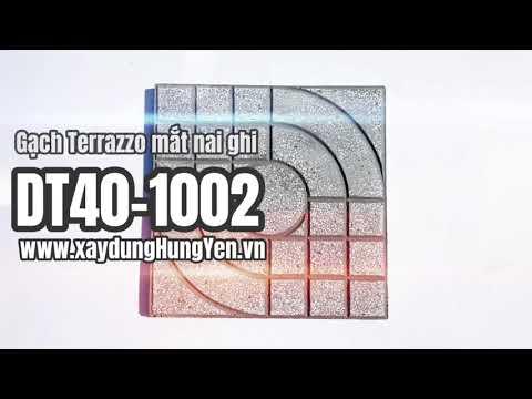 Gạch Lát Sân Vườn Terrazzo Mắt Nai Màu Ghi DT40-1002 | Gạch Lát Sân Vườn, Gạch Lát Vỉa Hè Hưng Yên
