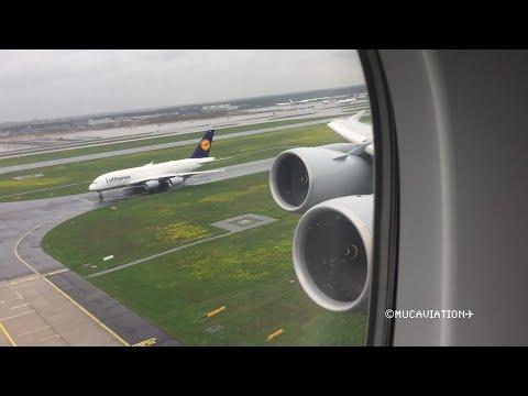 Amazing Engine Sound Lufthansa A380-800 Takeoff from Frankfurt [FULL HD]