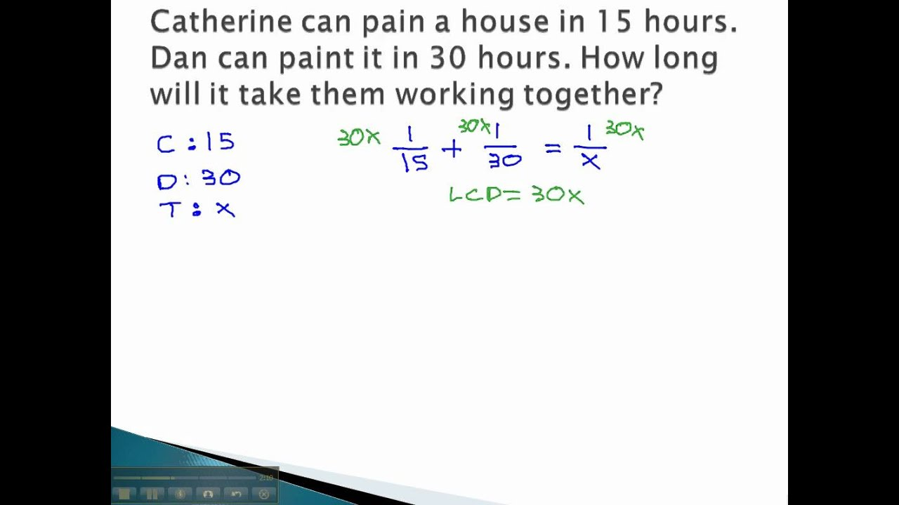 Math Work Problems (solutions, examples, videos)