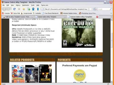Create EBay Template Free Tutorial Lesson YouTube - Dreamweaver ebay template