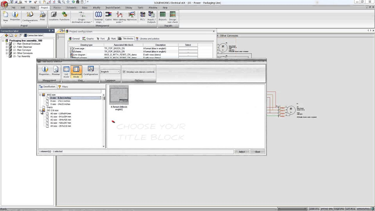 solidworks electrical inserting a title block tech tip july rh youtube com Marine Fuse Block Wiring Diagram 110 Block Wiring Diagram