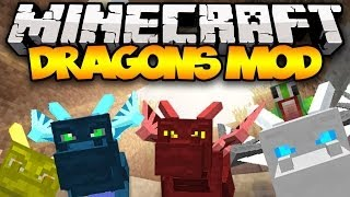 Minecraft: DRAGONS! (Ice, Fire, Water, & MORE!) | Mod Showcase