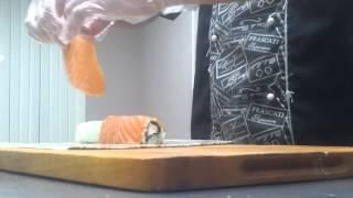 суши ролл урок,делаем роллы
