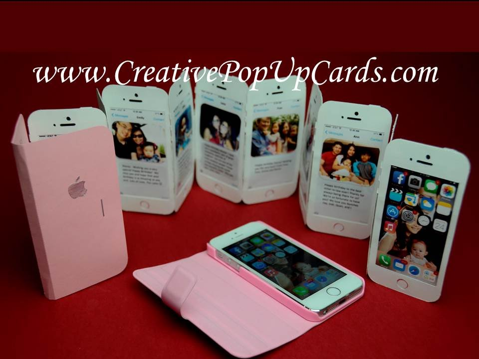 Cell Phone Ribbon Flip Greeting Card