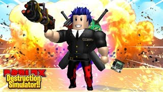 ROBLOX-I BOUGHT the GUN and MISSILE DESTRUCTION C4 BALL CITY SUPER 💥Destruction-Simulator