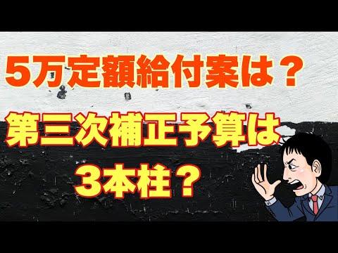 第三次補正予算は3本柱!定額給付5万円は?