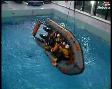 RNLI sea survival training
