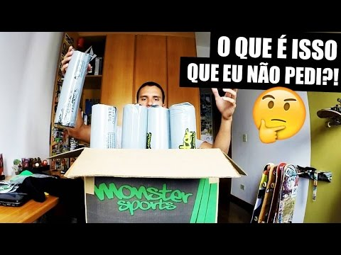 PRIMEIRO UNBOX DO CANAL!!! [UNBOXING MONSTER SPORTS]