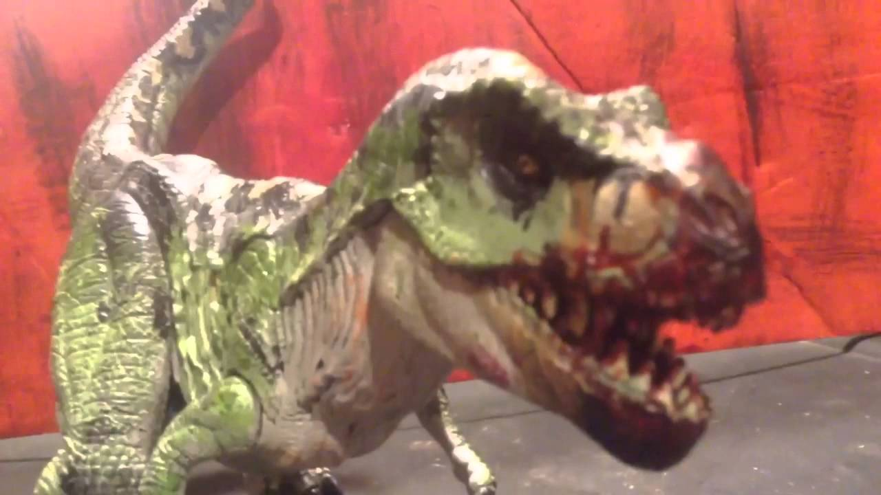 Excellent Jurassic Park /// Re-ak A-tak Tyrannosaurus Rex Custom Repaint  UH66