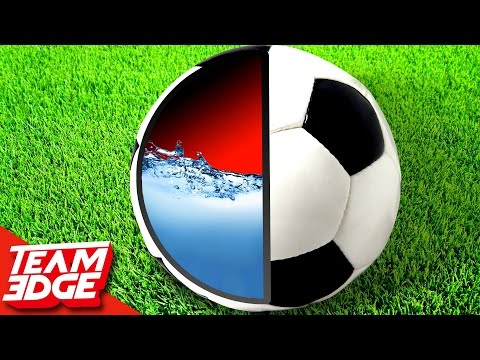 Water Filled Soccer Ball Challenge!!