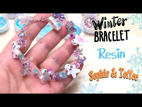 Resin and wire bracelet- Sophie & Toffee- The Elves Box- DIY