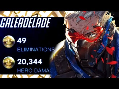49 ELIMS - GALE DOMINATING AS SOLDIER 76! [ OVERWATCH SEASON 19 TOP 500 ]