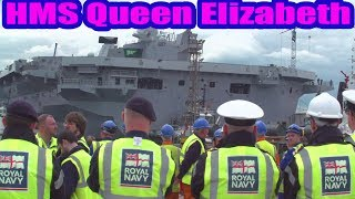 HMS Queen Elizabeth - Britain's largest ever warship leaves its Rosyth