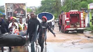 Pluies diluviennes à Abidjan: Les sapeurs-pompiers à la rescousse des populations