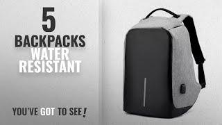 Top 10 Backpacks Water Resistant [2018]: Fur Jaden Grey Anti Theft Casual Waterproof Backpack Bag