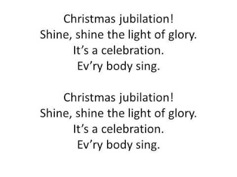 Christmas jubilation!