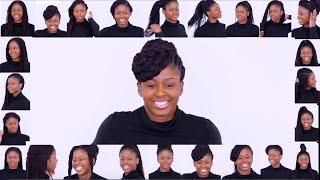 24 WAYS TO STYLE BOX BRAIDS ❤️ AFRO  NATURAL HAIR BRAIDING HAIRSTYLES #BRAIDS
