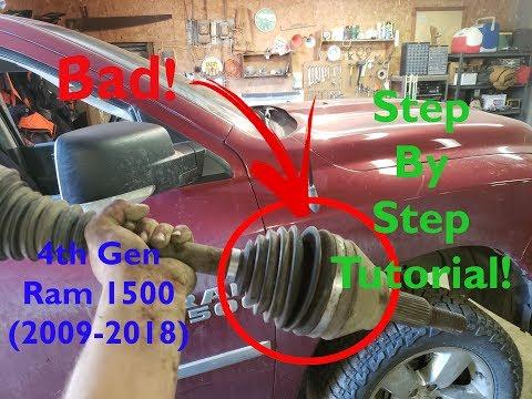 Dodge Ram 1500 4×4 – CV Shaft Replacement – DIY EASY!