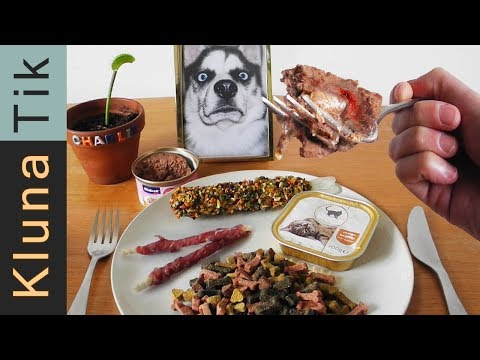 Eating ANIMAL FOOD!  Kluna Tik Dinner #93 | ASMR eating sounds no talk