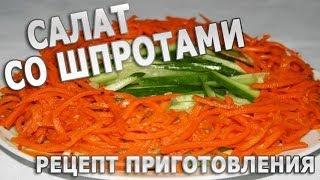 Рецепты салатов. Салат со шпротами простой рецепт приготовления