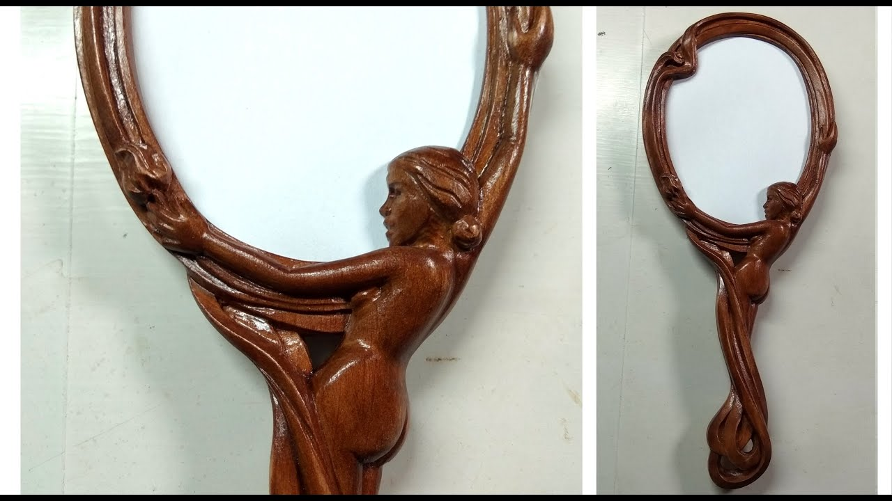 Wood carving. Hand mirror. Резное зеркало