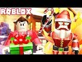 FLEE! DON'T GET CAUGHT BY EVIL SANTA! (RedHatter Roblox Christmas Special)
