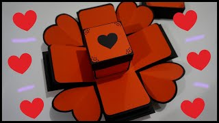 DIY Heart Explosion Gift Box - Handmade Gift | Paper Craft