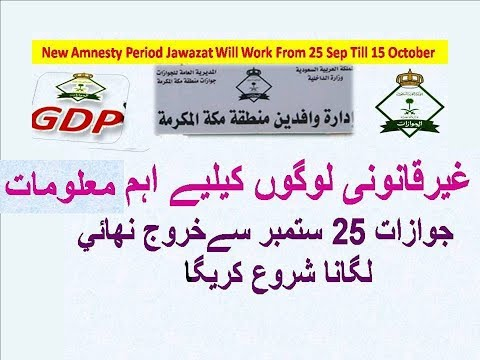 New Amnesty Period For illegal People Jawazat Wafideen Center Will Work From 25 Sep Till 15 October