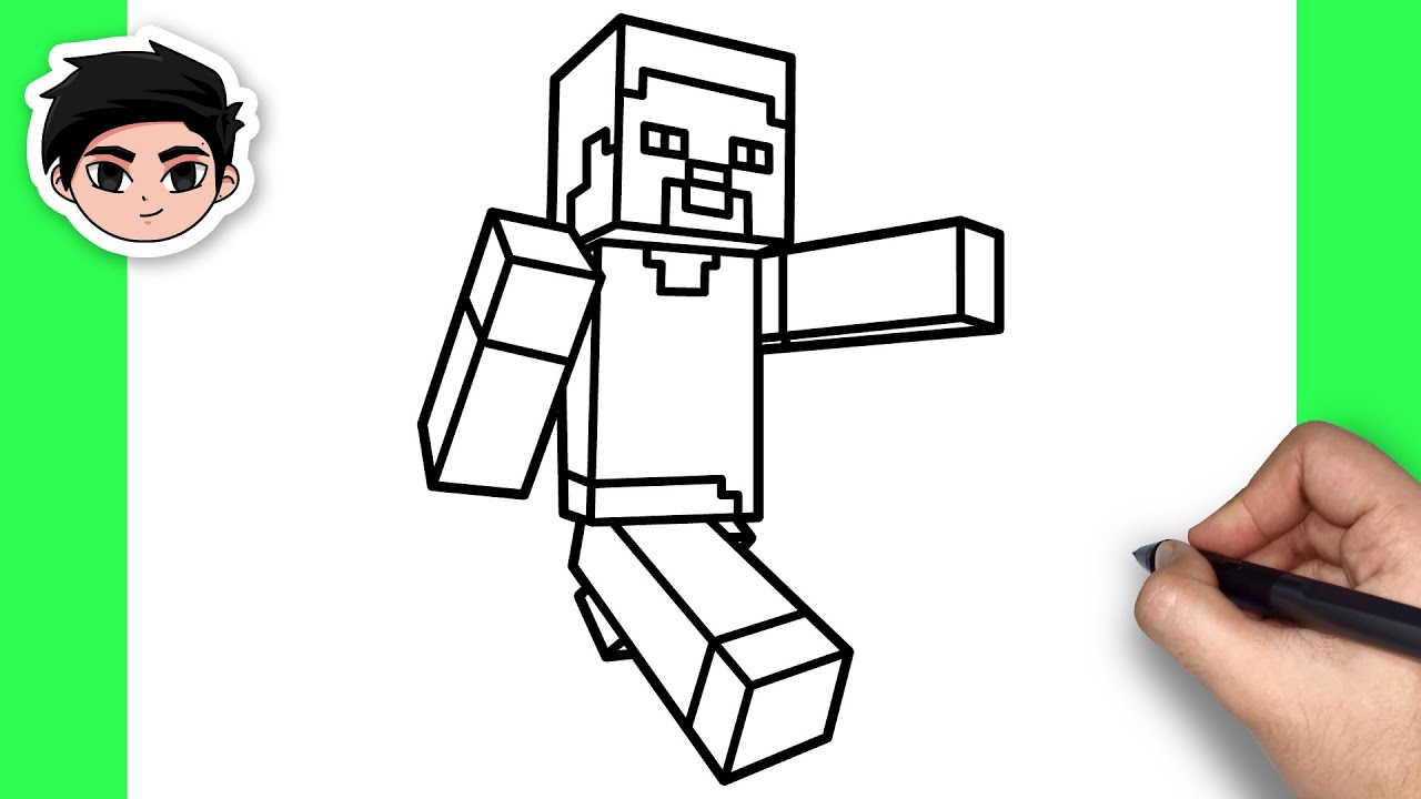 How To Draw Steve | Minecraft – Easy Step By Step Tutorial