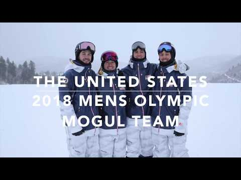 The United States 2018 Mens Olympic Mogul Team
