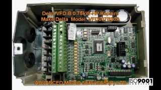 Delta VFD B 0 75kW HP Repairs @ Advanced Micro Services Pvt. Ltd,Bangalore,India