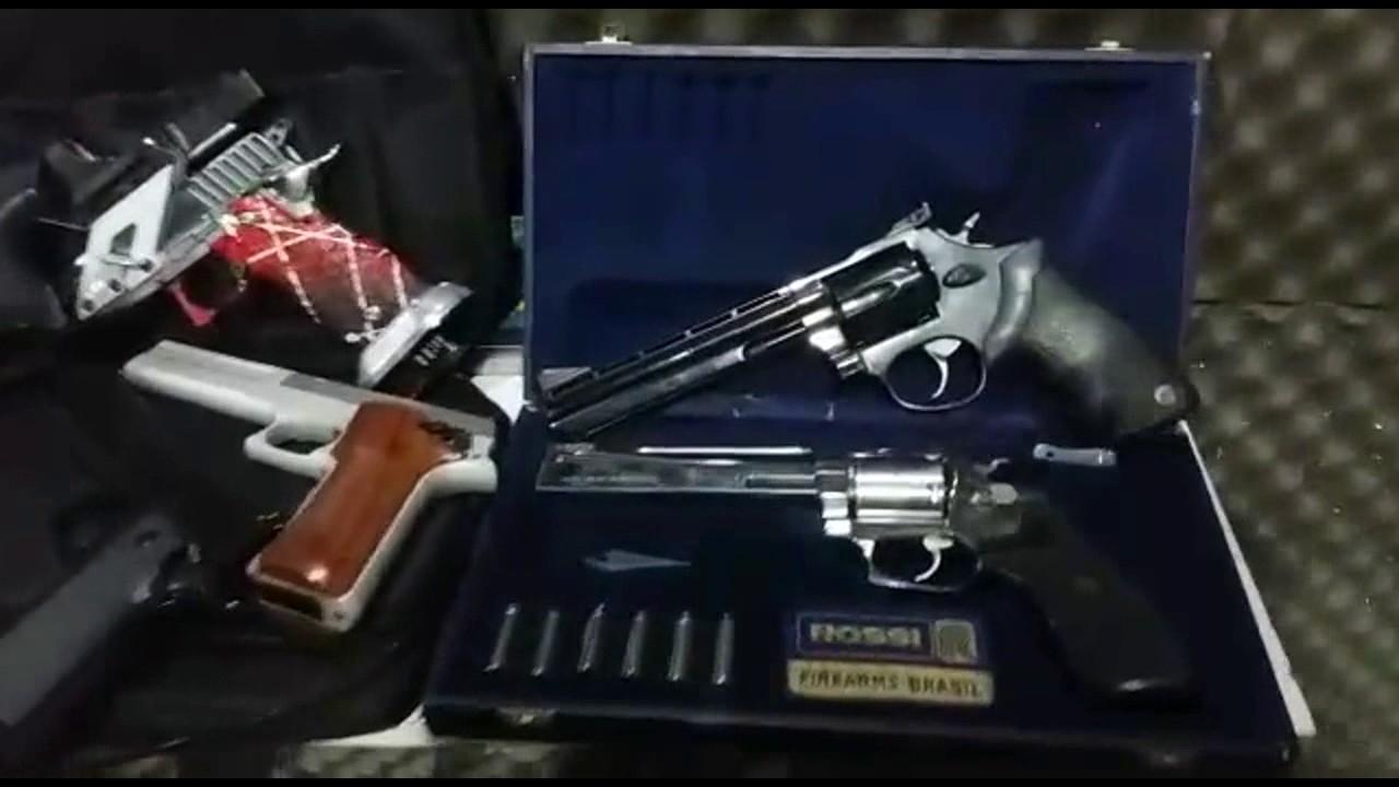 Atirando com Revolver Smith & Wesson 686  357 Magnum 6 tiros / 6 polegadas  !!!