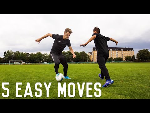 5 Easy Effective Match Skills To Beat Defenders | Easy Dribbling Tutorial For Footballers
