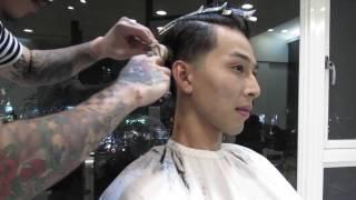 Lusso美髮師Bee - 低漸層復古油頭2016(建議觀看1080p)