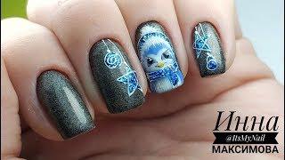 💖 ПИНГВИН на ногтях ПОШАГОВО 💖 PATRISA NAIL 💖 ЗИМНИЙ дизайн ногтей гель лаком 💖