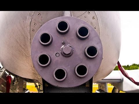 SUPER POWERFUL !!! US Air Force A-10 Gatling Machine Gun Demonstration